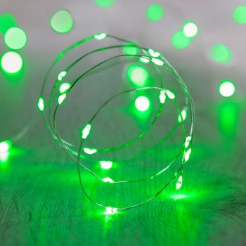 Luces LED Pila Baterías AA Halloween Fiestas Mexicanas Verde 3 Mts