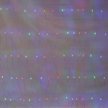 Redes Mallas 320 Luces Led 3 X 2 Mts Navidad Multicolor