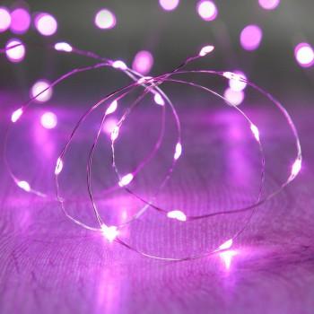 Series 30 Luces Led 3 Mts Pila Fairy Lights Rosa
