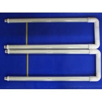 Lámpara Curvalum Tipo U Led T8 18W Corriente Directa Ahorro de Energía