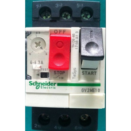 Guardamotor Regulable Telemecanique 6 A 10 Amp GV2ME14
