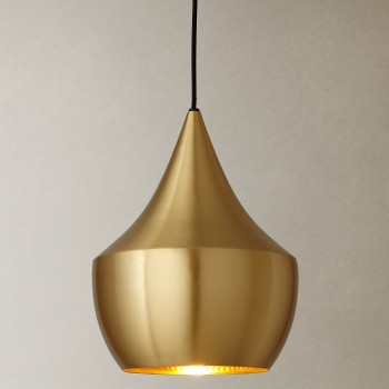 Lámpara Tom Dixon Fat Brass Beat Dorado Industrial Residencial Colgante
