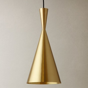 Lámpara Tom Dixon Tall Brass Beat Dorado Industrial Residencial Colgante