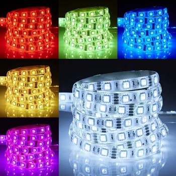Tira De 300 Luces Led 5 Mts 5050 Multicolor RGB