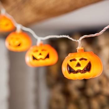Luces Calabazas Clásicas Naranjas LED Halloween Octubre Otoño Fiesta