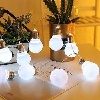 Luces Bombillos LED Plástico Vintage Decoración Evento Blanco 3.5 Mts