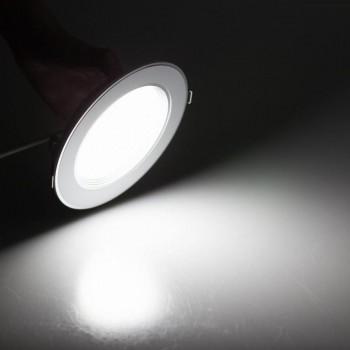 Lampara Plafon Empotrar Sobreponer Led Panel Downlight 12w