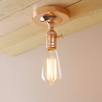 Lampara Industrial Antique Minimalist Techo Copper