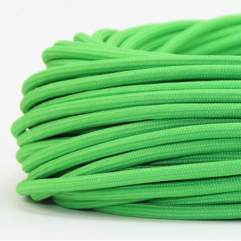 Cable Textil Vintage Iluminacion Lamparas Verde Fluorescente Thick