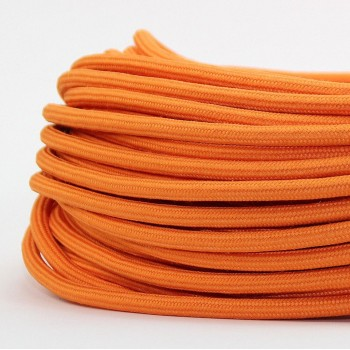 Cable Textil Vintage Electrico Decorativo Retro Lamparas Naranja Thick