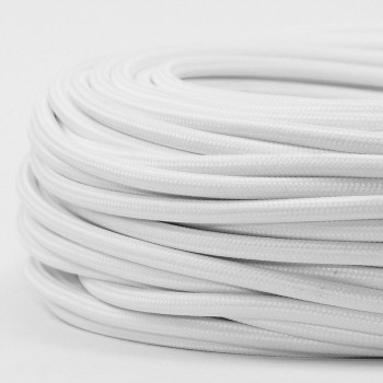 Cable Textil Vintage Electrico Decorativo Retro Lamparas Blanco Thick