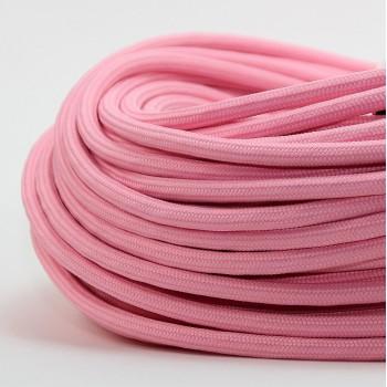 Cable Textil Vintage Electrico Decorativo Lamparas Rosa Blush Thick