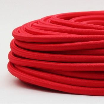 Cable Textil Vintage Electrico Decorativo Retro Lamparas Rojo Thick
