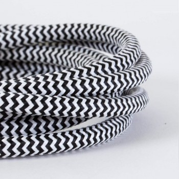 Cable Textil Vintage Eléctrico Zig Zag Lámparas Decoración Cebra Thick