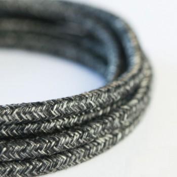 Cable Textil Rustico Negro
