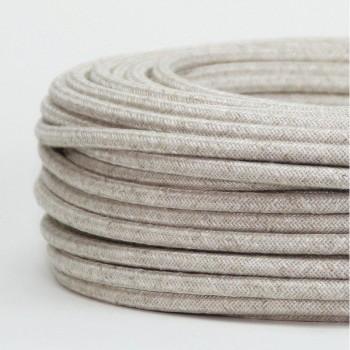 Cable Textil Vintage Rustico Beige Slim