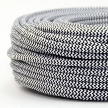 Cable Textil Vintage Eléctrico Zig Zag Lámparas Decoración Cebra Slim