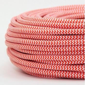 Cable Textil Vintage Eléctrico Lámparas Decoración Mandarina Slim