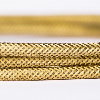 Cable Vintage Metalico Dorado