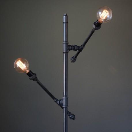 67aa6bcece9 Lampara Vintage Industrial Piso Loft 2 Focos Edison Atom