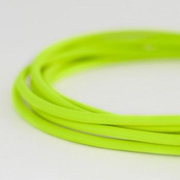 Cable Textil Forrado Eléctrico Iluminación Vintage Amarillo Neón Slim