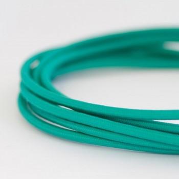 Cable Textil Eléctrico Iluminación Vintage Retro Azul Turquesa Slim