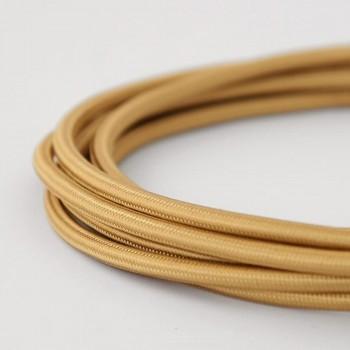 Cable Textil Vintage Chocolate Claro Slim