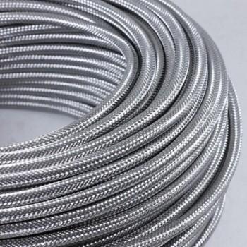 Cable Vintage Metalico Plata