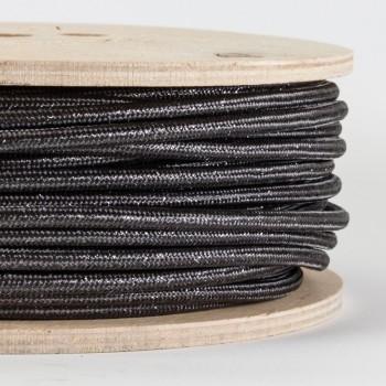 Cable Textil Glitter Negro