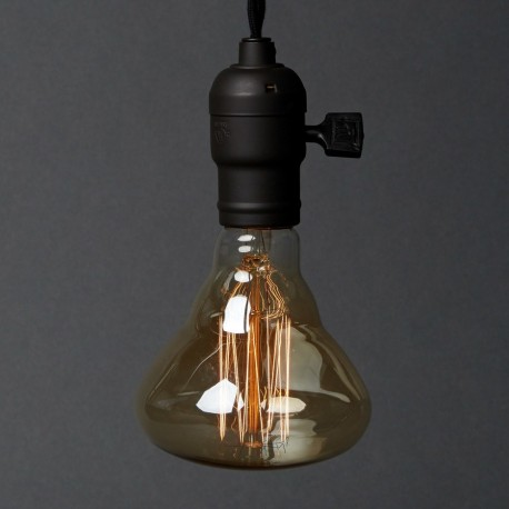 Foco Filamento de Carbono Edison Vintage Retro Luz Cálida Blop 40W