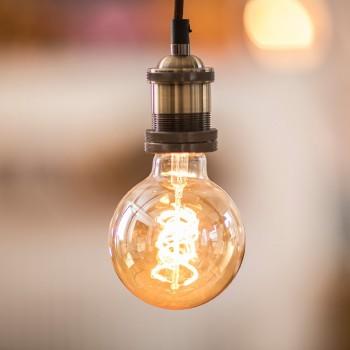 Foco LED Edison Vintage Bar Cafetería Luz Cálida Bombilla Espiral 4W