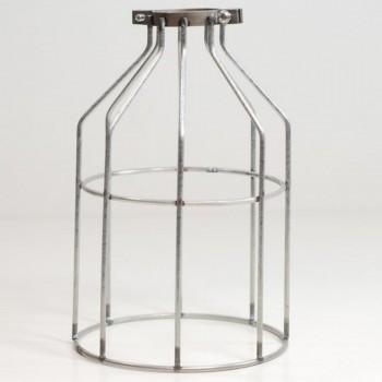 Jaula Vintage Decoración Diseño Lámparas Retro Edison Birdcage Plata