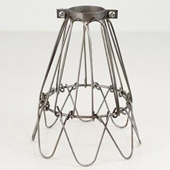 Jaula Vintage Decoración Diseño Lámparas Retro Edison Florette Plata