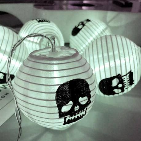 Luces Halloween LED Octubre Otoño Linterna Calaveras Esqueletos Terror