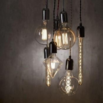 Candelabro Lampara Vintage Industrial Racimo 7 Focos Edison Led