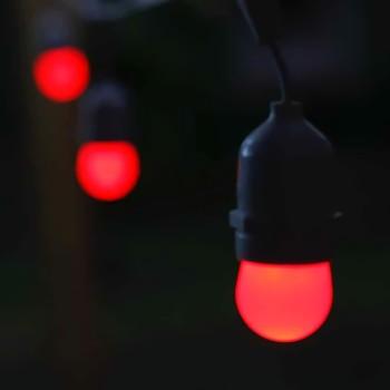 Foco Rojo Decoración Fiesta Evento Cumpleaños Miniglobo LED E27 1W