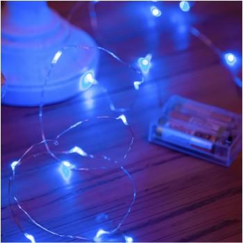 Luces de Hadas Pila Azul