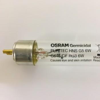 Tubo Germicida Ultravioleta Desinfección HNS 6W G5 G6T5 Osram Puritec