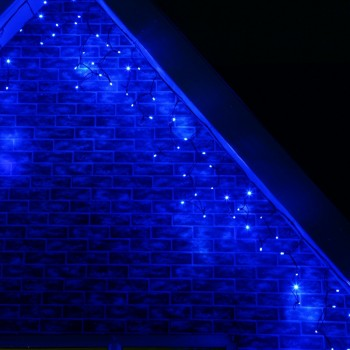 Cascada Led 300 Luces 6 Mts Decoracion Evento Azul