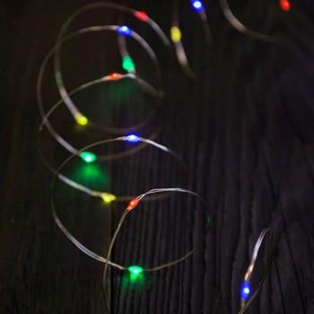 Luces de Hadas Multicolor Micro LED Navidad Fiesta Mexicana 10 Mts