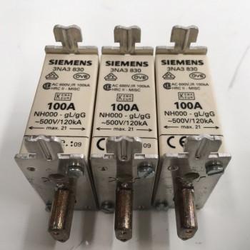 Fusible De Seguridad Siemens NH 500V 100A 3NA3830