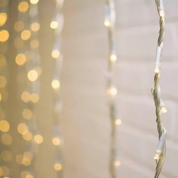 Cortinas Luces LED Boda Recepción Vintage Rustica Boho Cálido 2.5 X 3 Mts