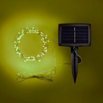 Luces de Hadas Solares Exterior Amarillo Jardín Evento Navideñas 10 Mts