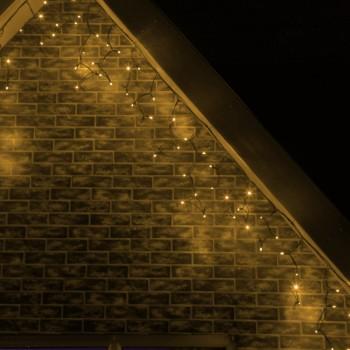 Cascadas Luces LED Navidad Evento Boda Decoración Blanco Cálido 6 Mts