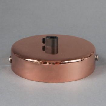 Base Para Lámparas De Techo Chapetón Canope Soporte Clásico Cobre