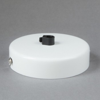 Base Para Lámparas De Techo Chapetón Canope Soporte Clásico Blanco