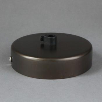 Base Para Lámparas De Techo Chapetón Canope Soporte Clásico Chocolate