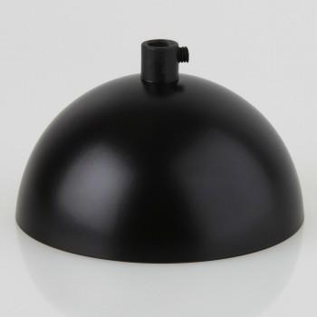 Base Lámparas Techo Colgantes Chapetón Canope Media Esfera Negro
