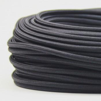 Cable Textil Vintage Electrico Decorativo Retro Lamparas Negro Thick