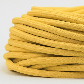 Cable Textil Vintage Electrico Decorativo Retro Lamparas Amarillo Thick